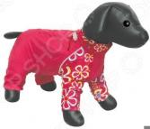 Комбинезон для собак DEZZIE «Такса кроличья». Цвет: красный