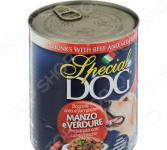 Корм консервированный для собак Monge Special Dog «Кусочки говядины с овощами»
