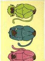 Визитница Mitya Veselkov «Три мудрых обезьяны на светло-желтом»