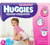 Подгузники-трусики HUGGIES Little Walkers Jumbo Girl 13-17 кг L 32 шт