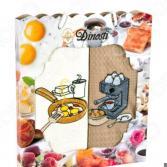 Комплект из 2-х кухонных полотенец Dinosti «Любимый завтрак»