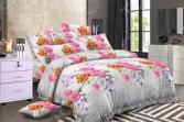 Комплект постельного белья «Цветочный Вальс». 1,5-спальный. Рисунок: розы