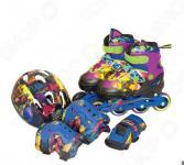 Роликовые коньки с комплектом защиты и шлемом Gulliver TMNT