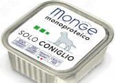 Корм консервированный для собак Monge Monoproteico Solo «Паштет из кролика»