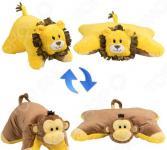 Подушка-игрушка 1 Toy «Вывернушка 2в1: Лев-Обезьянка»