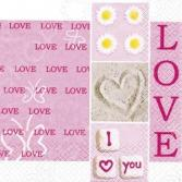 Салфетки бумажные для декупажа Rayher «Я тебя люблю»