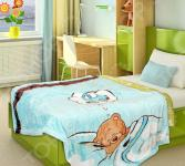 Плед детский TexRepublic Absolute Flanel «Мишка в кроватке»