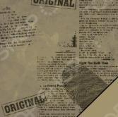 Бумага для скрапбукинга Rayher «Отпечатки пальцев»