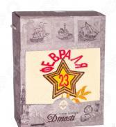 Полотенце махровое подарочное Dinosti «23 февраля: Звезда». В ассортименте