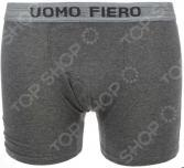 Трусы-шорты Uomo Fiero 027 FH. Цвет: темно-серый меланж