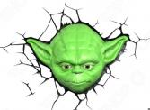 Пробивной светильник 3DlightFX Star Wars Yoda 50025