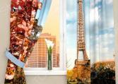Фотошторы Сирень «Цветущий Париж»