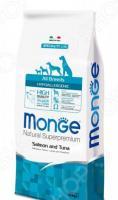 Корм сухой диетический для собак Monge Natural Superpremium All Breeds Hypoallergenic Salmon and Tuna