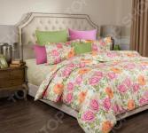 Комплект постельного белья Santalino «Пионы». Цвет: светло-желтый. Семейный
