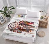 Плед флисовый ТамиТекс «Ловец снов». Цвет: белый