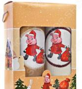 Комплект из 2-х кухонных полотенец Dinosti «Поросята с подарками»