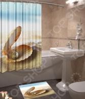 Набор для ванной комнаты: шторка и коврик ТамиТекс «Жемчужина»
