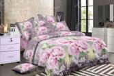 Комплект постельного белья «Цветочный Вальс». 1,5-спальный. Рисунок: розовый букет