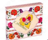 Полотенце кухонное вафельное Dinosti «С любовью». В ассортименте