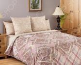 Комплект постельного белья Королевское Искушение «Итальянка». Тип ткани: сатин. 1,5-спальный