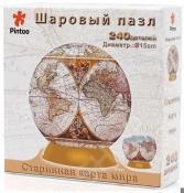 Пазл шаровой Pintoo «Старинная карта мира» 64515