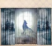 Комплект фотоштор с тюлем ТамиТекс «Лунная волчица»