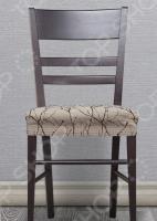 Комплект натяжных чехлов на сиденье стула Еврочехол «Ванесса»