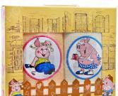 Комплект из 2-х кухонных полотенец Dinosti «Сельские Поросята»