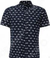 Рубашка Finn Flare S16-24030. Цвет: темно-синий