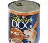 Корм консервированный для собак Monge Special Dog «Кусочки курицы»