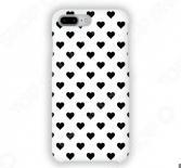 Чехол для iPhone 7 Plus Mitya Veselkov «Черные сердечки на белом»