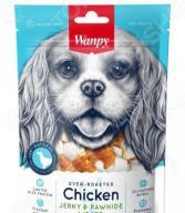 Лакомство для собак Wanpy «Кости из сыромятной кожи с куриным мясом»