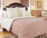 Комплект постельного белья Королевское Искушение гладкокрашеный. Цвет: какао, молочный. 2-спальный