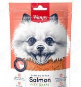Лакомство для собак Wanpy «Лакомые кусочки из нежного лосося в форме рыбок»