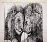 Фотошторы детские «Львы»