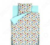 Детский комплект постельного белья Непоседа «Роботы»