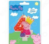 Свеча-цифра Peppa Pig №4
