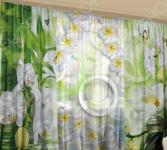Фотокомплект: тюль и шторы ТамиТекс «Сочная зелень»