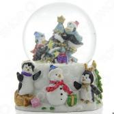 Снежный шар декоративный Crystal Deco «Хоровод вокруг елки»