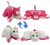 Подушка-игрушка 1 Toy «Вывернушка 2в1: Единорог-Розовая Кошечка»