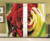 Комплект фотоштор с подхватами МарТекс «Микс Ред»