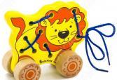 Каталка детская Alatoys «Шнуровка Лев»