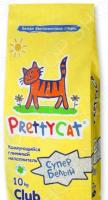 Наполнитель для кошачьего туалета PrettyCat «Cупер белый»