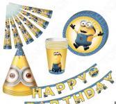 Набор сервировочный одноразовый Миньоны Happy Birthday