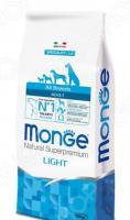 Корм сухой диетический для собак Monge Natural Superpremium All Breeds Adult Light