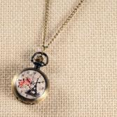 Кулон-часы Mitya Veselkov «Эйфелева и розы»