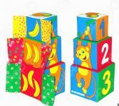 Кубики обучающие мягкие Мякиши «Умная мартышка»