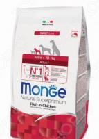 Корм сухой для собак мелких пород Monge Natural Superpremium Mini Adult Rich in Chicken