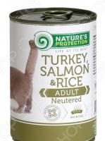 Корм консервированный для стерилизованных котов и кошек Nature's Protection Neutered «Индейка & Лосось» с рисом