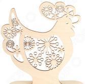 Форма декоративная на подставке Buratini «Петух с цветочным ажуром»